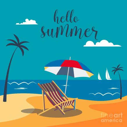 hello-summer-poster-tropical-beach-ivector